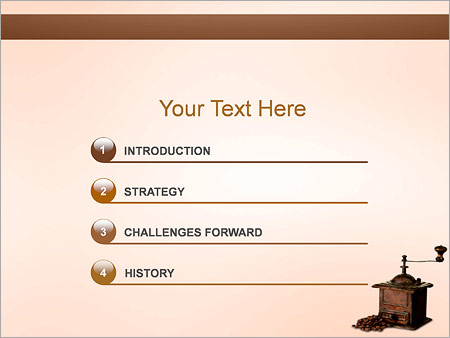 Шаблон для презентации Ручная кофемолка - Третий слайд