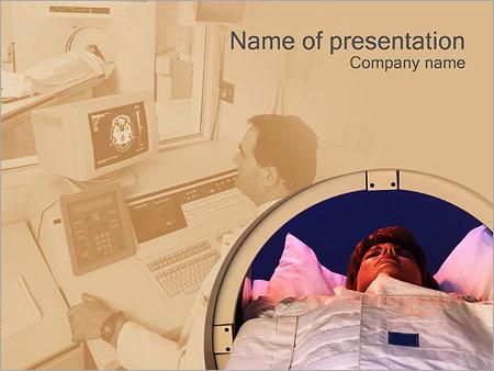 Шаблон презентации Обследование головы (МРТ) - Титульный слайд