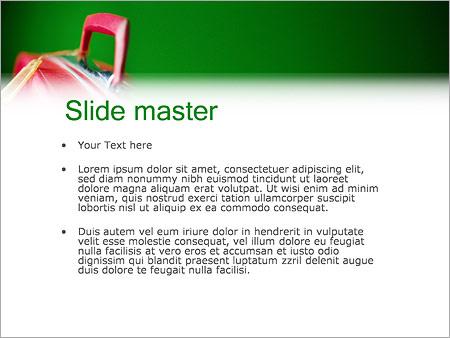 Шаблон PowerPoint Багаж чемодан - Второй слайд