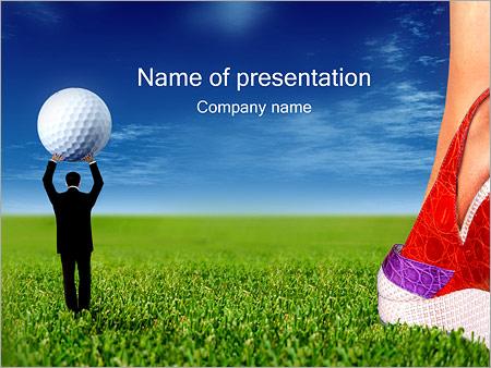 Шаблон презентации Гольф - Титульный слайд