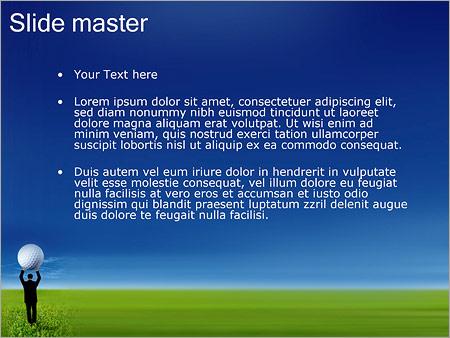 Шаблон PowerPoint Гольф - Второй слайд