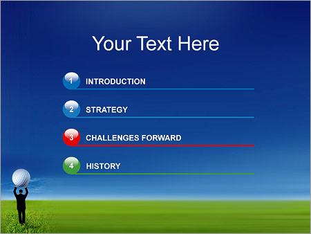 Шаблон для презентации Гольф - Третий слайд