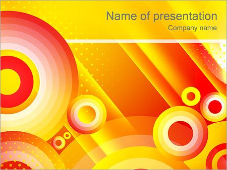 Шаблон презентации Желтые круги - Титульный слайд