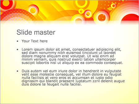 Шаблон PowerPoint Желтые круги - Второй слайд