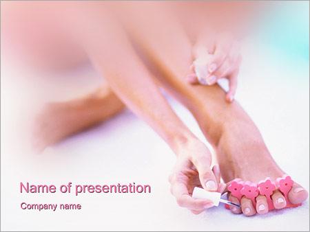 Шаблон презентации Педикюр - Титульный слайд