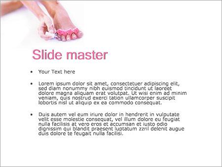 Шаблон PowerPoint Педикюр - Второй слайд