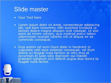 Шаблон PowerPoint Бизнесмен - Второй слайд