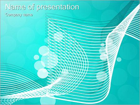 Шаблон презентации Бирюзовая сетка - Титульный слайд