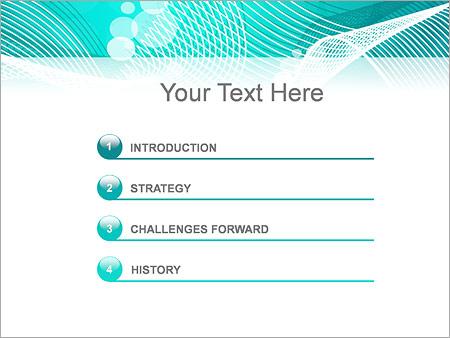 Шаблон для презентации Бирюзовая сетка - Третий слайд