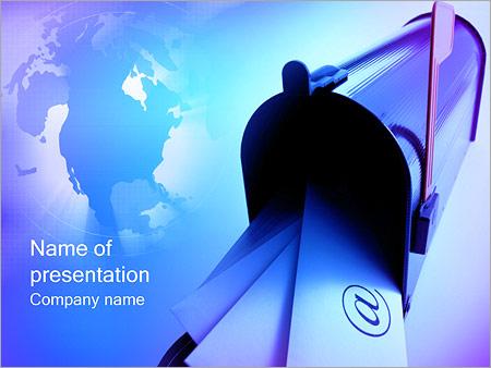 Шаблон презентации Почтовый ящик с письмами - Титульный слайд