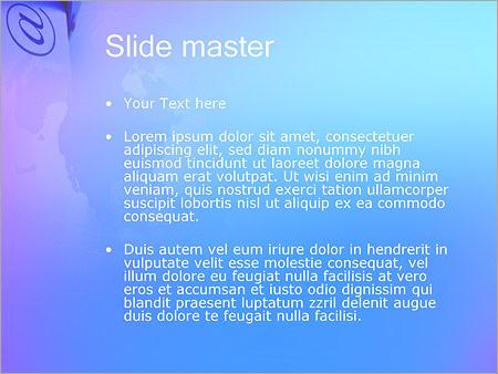Шаблон PowerPoint Почтовый ящик с письмами - Второй слайд