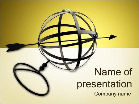 Шаблон презентации Сфера и стрелка - Титульный слайд
