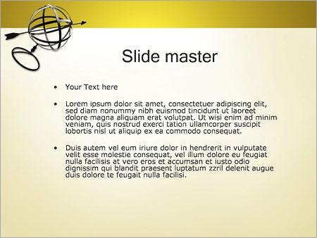 Шаблон PowerPoint Сфера и стрелка - Второй слайд