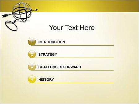 Шаблон для презентации Сфера и стрелка - Третий слайд