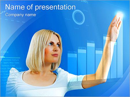 Шаблон презентации Женщина и высокие технологии - Титульный слайд