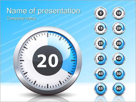 Шаблон презентации Секундомер - Титульный слайд