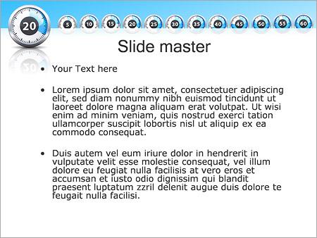Шаблон PowerPoint Секундомер - Второй слайд