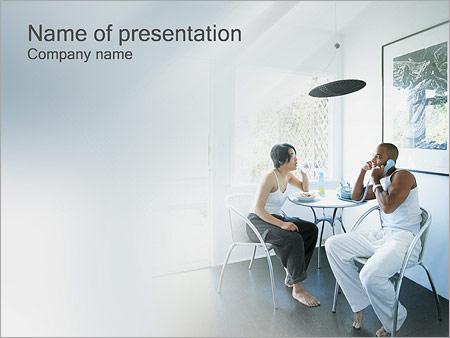 Шаблон презентации Семейный обед - Титульный слайд