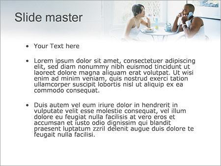 Шаблон PowerPoint Семейный обед - Второй слайд
