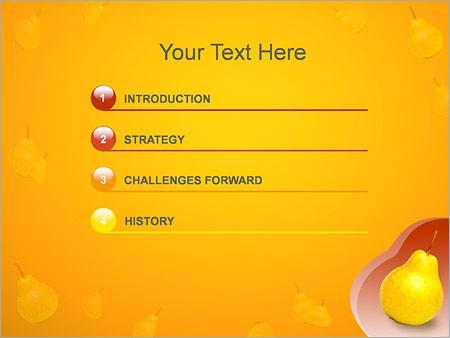 Шаблон для презентации Груша - Третий слайд