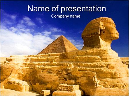 Шаблон презентации Пирамида Сфинкс - Титульный слайд