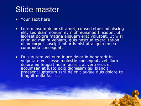 Шаблон PowerPoint Пирамида Сфинкс - Второй слайд