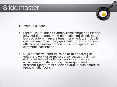 Шаблон PowerPoint Жареное яйцо на сковороде - Второй слайд