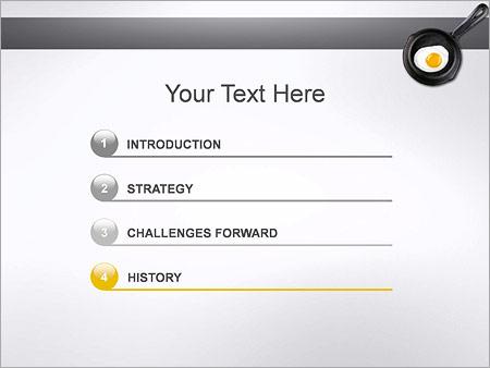 Шаблон для презентации Жареное яйцо на сковороде - Третий слайд