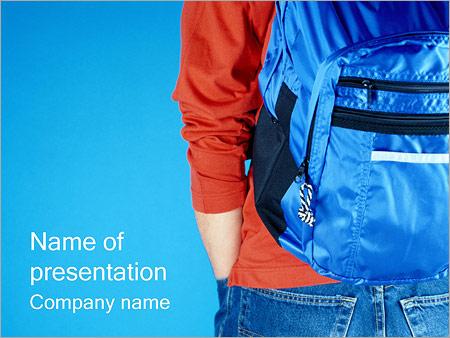 Шаблон презентации Ученик с рюкзаком - Титульный слайд