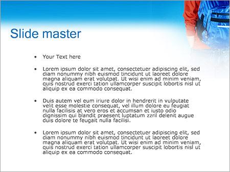 Шаблон PowerPoint Ученик с рюкзаком - Второй слайд