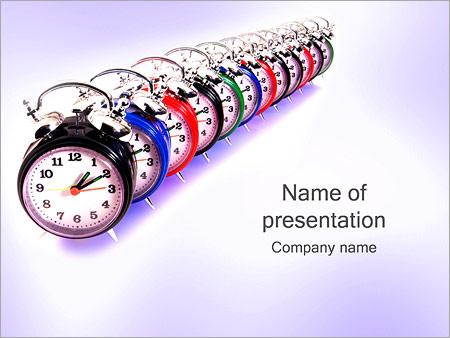 Шаблон презентации Часы с будильником - Титульный слайд