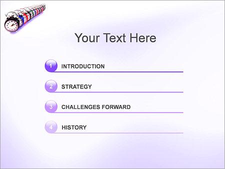 Шаблон для презентации Часы с будильником - Третий слайд