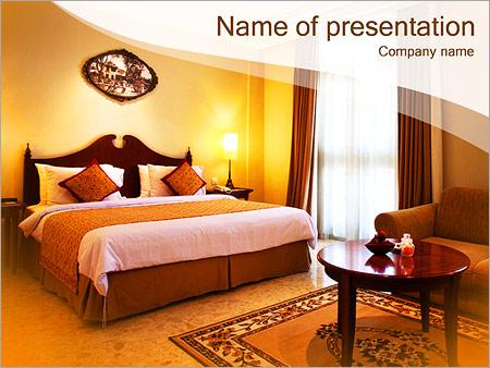 Шаблон презентации Номер в отеле - Титульный слайд