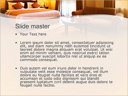 Шаблон PowerPoint Номер в отеле - Второй слайд