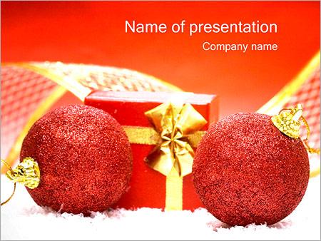 Шаблон презентации Подарки на новый год - Титульный слайд