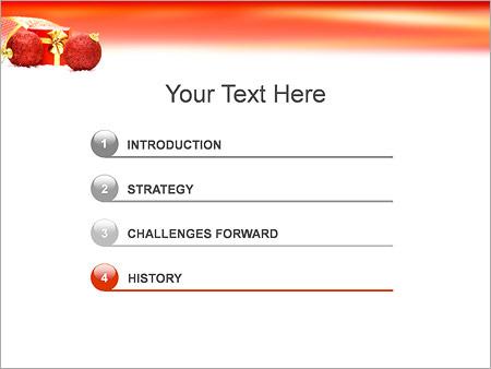 Шаблон для презентации Подарки на новый год - Третий слайд