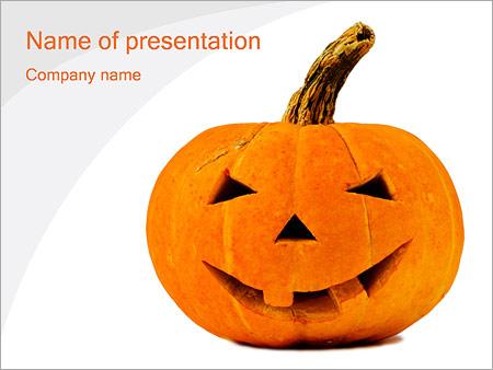 Шаблон презентации Тыква на хэллоуин - Титульный слайд