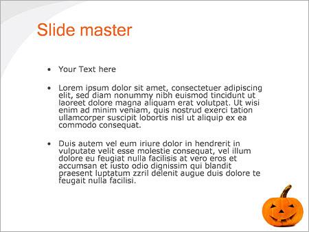 Шаблон PowerPoint Тыква на хэллоуин - Второй слайд