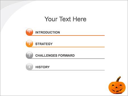Шаблон для презентации Тыква на хэллоуин - Третий слайд