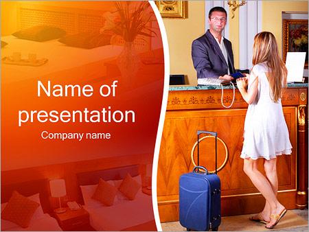 Шаблон презентации Размещение в отеле - Титульный слайд