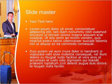 Шаблон PowerPoint Размещение в отеле - Второй слайд