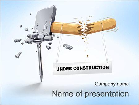 Шаблон презентации Запрет строительства - Титульный слайд