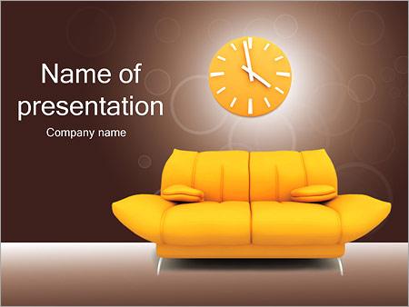 Шаблон презентации Диван и часы - Титульный слайд