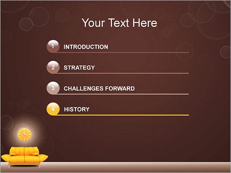 Шаблон для презентации Диван и часы - Третий слайд