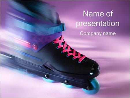 Шаблон презентации Роликовые коньки - Титульный слайд