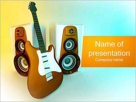 Шаблон презентации Электрическая гитара - Титульный слайд