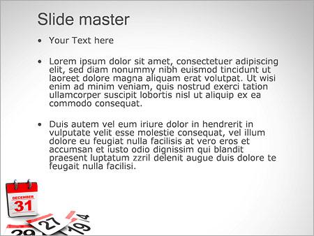 Шаблон PowerPoint Последний день года - Второй слайд