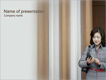 Шаблон презентации Звонок по телефону - Титульный слайд