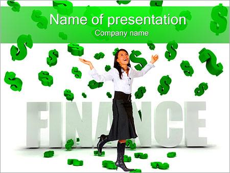 Шаблон презентации Финансовая свобода - Титульный слайд