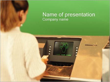 Шаблон презентации Банкомат - Титульный слайд